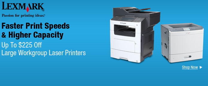 Up to $225 off large workgroup laser printers