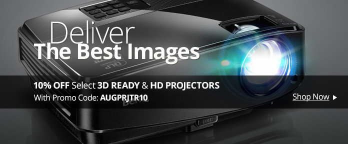 10% OFF Select 3D READY & HD PROJECTORS With Promo Code