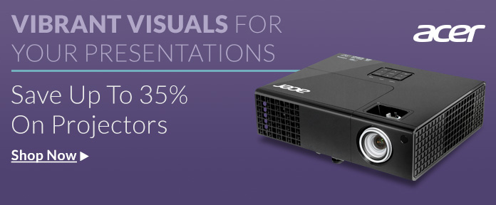 Save up to 35% on Projectors shop now