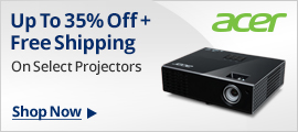 Up To 35% Off+Free Shipping on select projectors