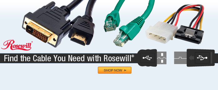 Find the Cable You Need with Rosewill