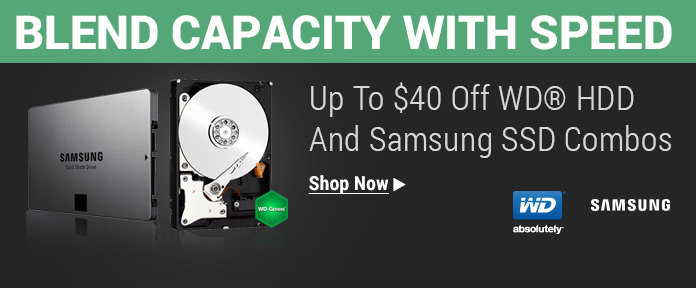 Up to $40 off WD HDD and Samsung SSD Combos