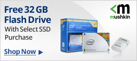 Free 32GB flash drive with select SSD purchase