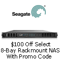 $100 Off Select 8-Bay Rack mount NAS With Promo Code