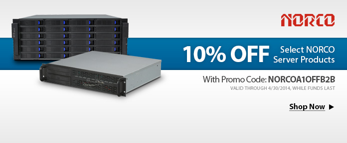 10% off Select NORCO Server Products