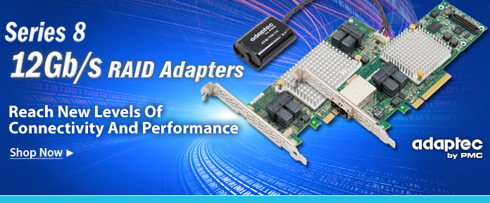 Series 8 12 Gb/s RAID adapters