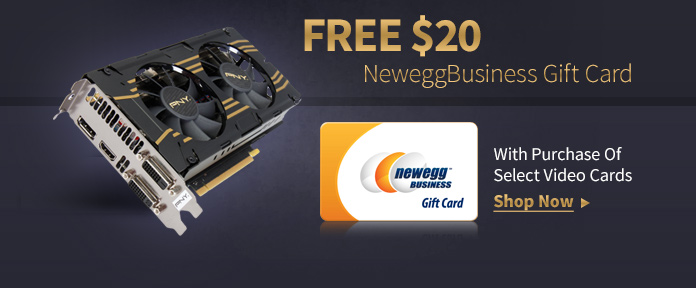 Free $20 Gift Card W/ Select Video Cards