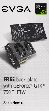 buy a GeForce GTX™ 750 TI FTW and receive a free back plate