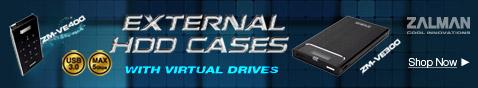 Zalman External HDD Cases With Virtual Drives