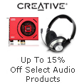 Up to 15% off Select Audio Products