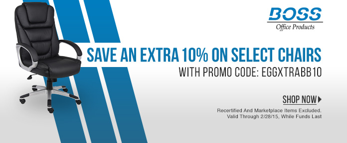 Save an extra 10% on select chairs with promo code