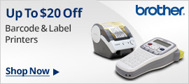 Up to $20 off Barcode & label printers