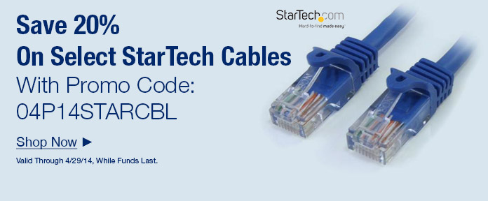 Save 20% On Startech Cables With Promo Code