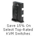 Save 15% on select Top-rated KVM Switches