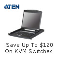 Save up to $120 on KVM switches
