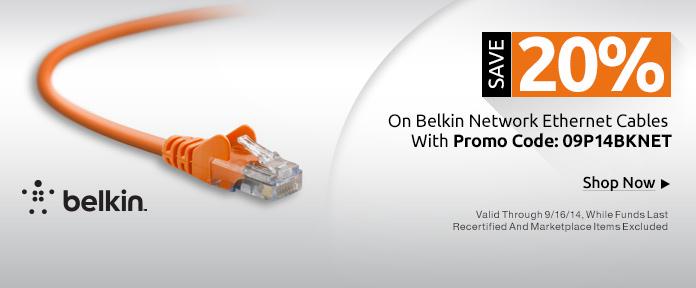 Save 20% on Belkin Network Ethernet Cables