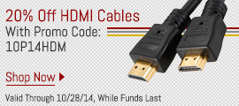 20% Off HDMI Cables With Promo Code