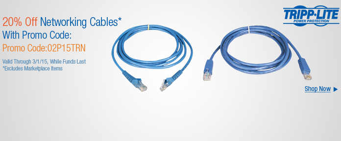 Tripp Lite Networking Cables 20%