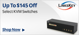 UP to $145 off + frees shipping on select KVM switches