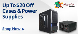 Up to $20 off cases & power supplies
