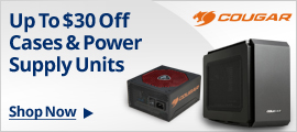 Up to $30 off cases & power supply units