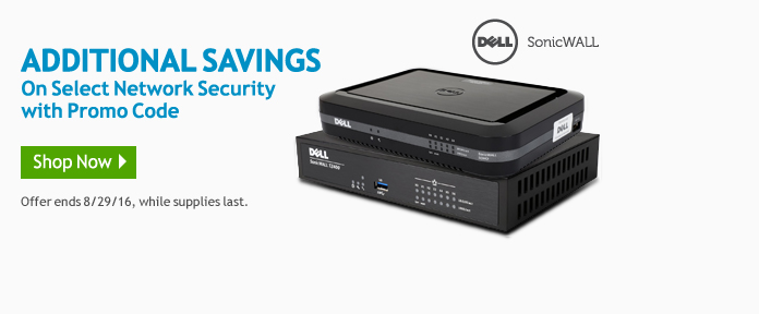 Additional savings on select network security with promo code