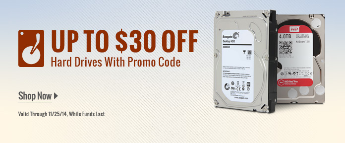 Up To $30 Off Hard Drive W/ Promo Code