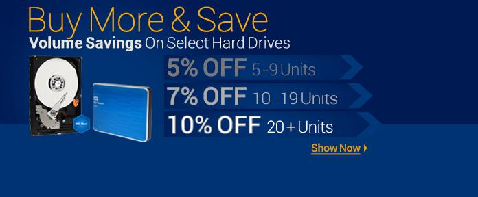 Volume Savings On Hard Drives