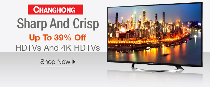 Up to 39% off HDTVs