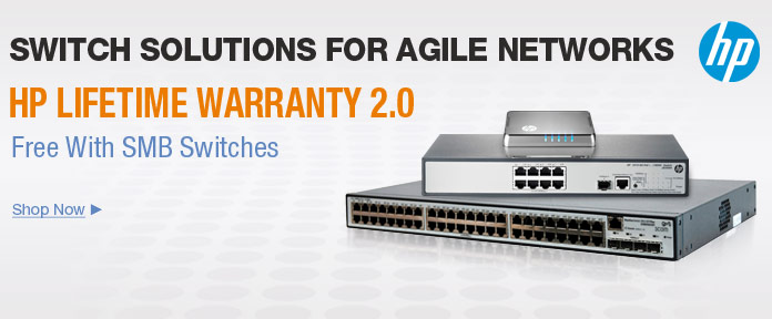 HP LIFETIME WARRANTY 2.0 Free With SMB Switches