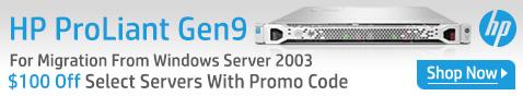 HP ProLiant Gen9 $100 Off Select HP Servers