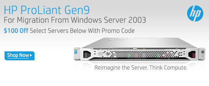 HP ProLiant Gen9 $100 Off Select HP Servers