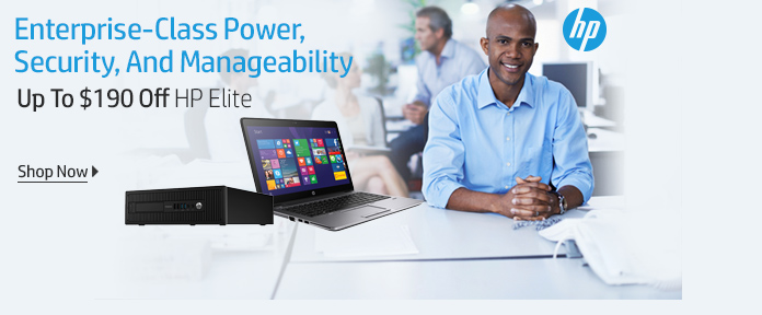 HP Elite Desktops, Notebooks, Ultrabooks Up To $190 Off