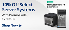 10% off select server systems with promo code