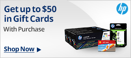 HP Ink & Toner Gift Card Offers