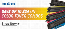 Brother Toner - Save $24 On Color Combos