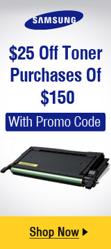 $25 Off Toner Purchase Of $150 with promo code