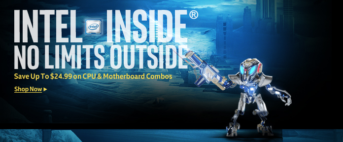 Save Up To $24.99 on Intel CPU & Motherboard Combos