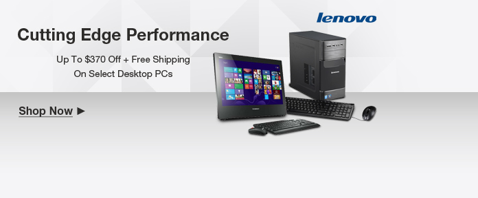 Lenovo Desktop PCs Up To $370 Off