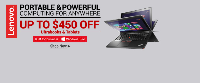 Lenovo Ultrabooks & Tablets Up To $450 Off