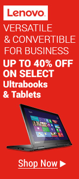Up To 40% Off on Select Ultrabooks & Tablets