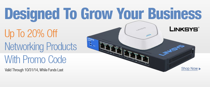 Up to 20% Off Networking Products With Promo Code