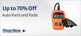 UP TO 70% OFF AUTO PARTS AND TOOLS