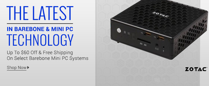 Up to $60 Off & Free Shipping On Select Barebone Mini PC Systems