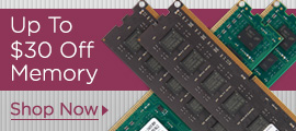 Up To $30 Off Memory