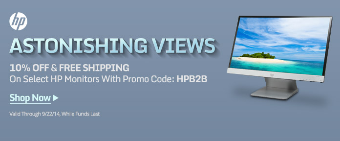 Astonishing Views. 10% Off &Free Shipping On Select HP Monitors With Promo Code