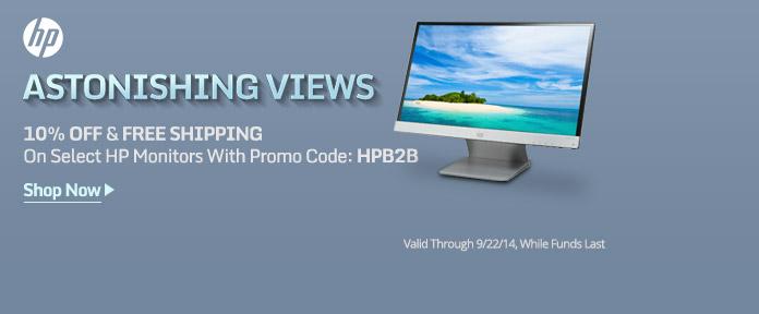 HP Monitors 10% Off