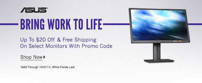 Up to $20 off & Free Shipping on Select Monitors with Promo Code