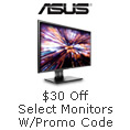 $30 off Select Monitors with Promo Code