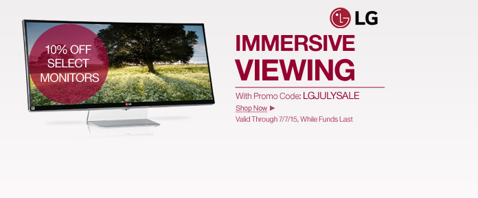 LG Monitors 10% Off